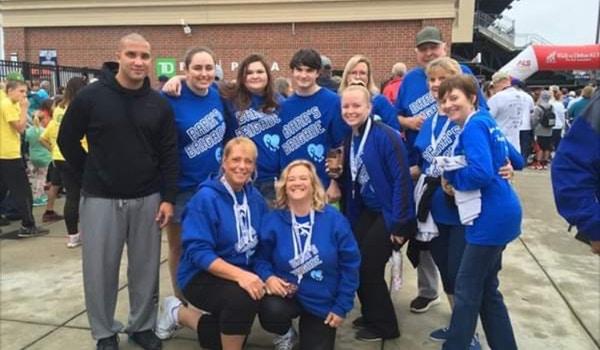 Barr's Brigade At Als Walk 2018 T-Shirt Photo