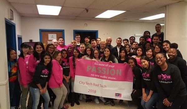 City Tech Rad Tech  Class Of 2019   Breast Cancer Walk T-Shirt Photo