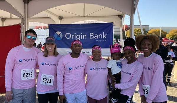 Origin Bank Team At Race For The Cure T-Shirt Photo