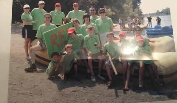 Rex Raf Rafting Teen Trip T-Shirt Photo