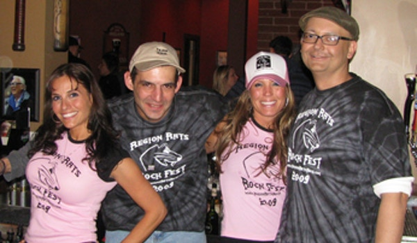 Region Rats Rocking Out To Fight Cancer T-Shirt Photo