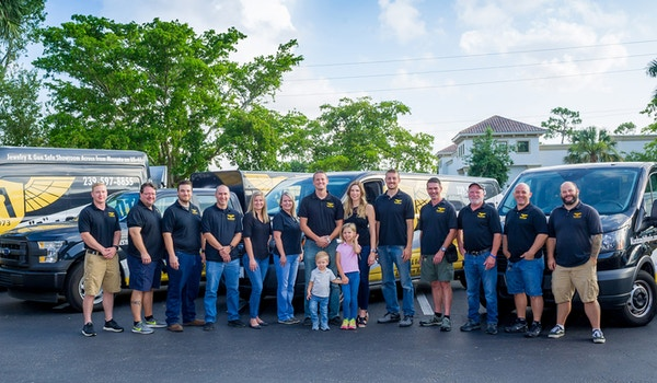 """A"" Locksmith Naples Team   Custom Ink Customers For Life! T-Shirt Photo"