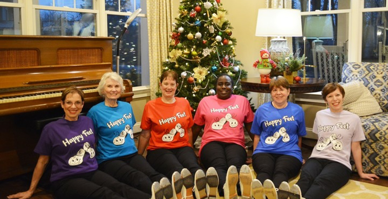 Happy Feet Cloggers T-Shirt Photo