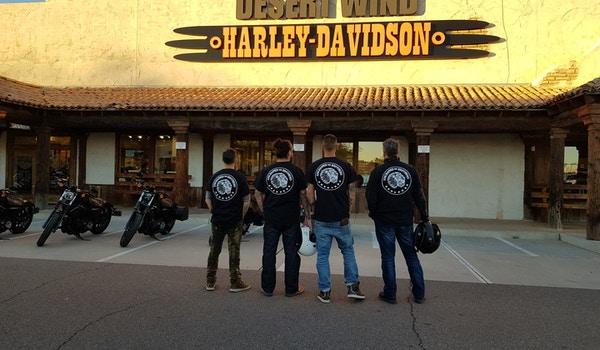 Four Island Boys Riding In The Desert Of Arizona ! T-Shirt Photo