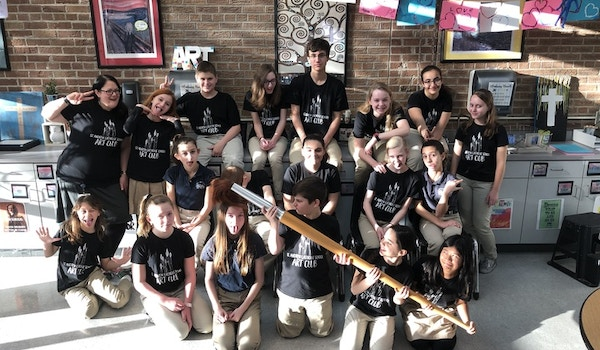 It's Art Club Picture Day! T-Shirt Photo