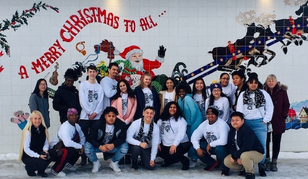 East Anchorage Hs At The Santa Claus House In North Pole, Ak.  Really! T-Shirt Photo