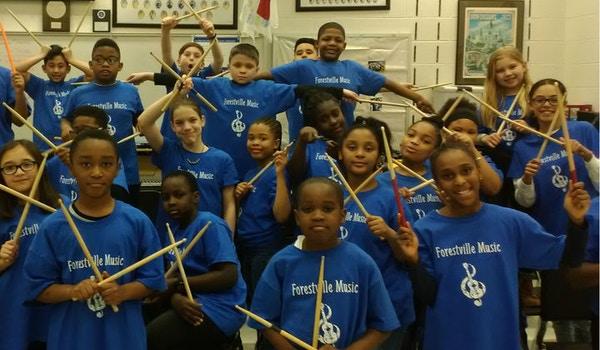Forestville Road Elementary Percussion Ensemble T-Shirt Photo
