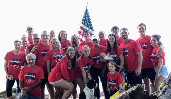 Lake Erie Fourth Of July T-Shirt Photo