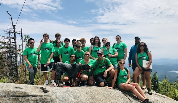 Conquering Blue Mountain (1,574 Ft.) T-Shirt Photo