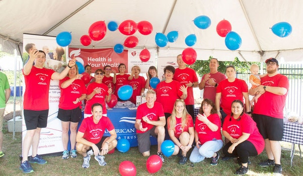 American National Bank & Trust Company At The Danville Pittsylvania Heart Walk, Benefitting American Heart Association Of Western Va T-Shirt Photo