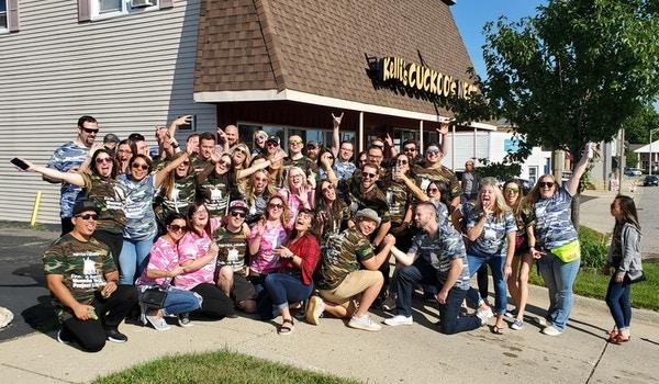 Metra Crusin Find Us Boozing T-Shirt Photo