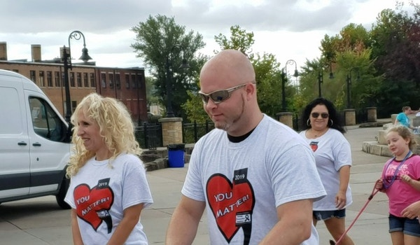 Out Of Darkness Walk   2019 T-Shirt Photo