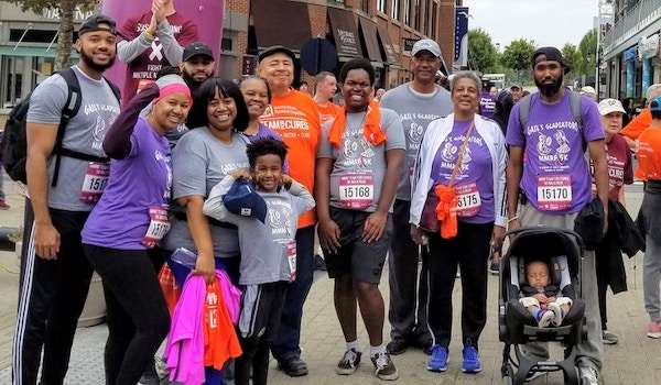 Gail's Gladiators   Multiple Myeloma 5k Race In Washington Dc T-Shirt Photo