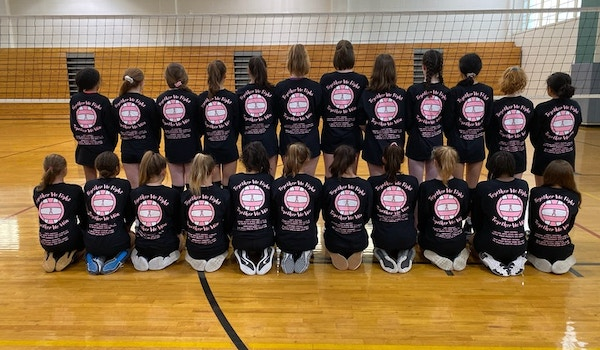 2019 Dig Pink Volleyball Game T-Shirt Photo