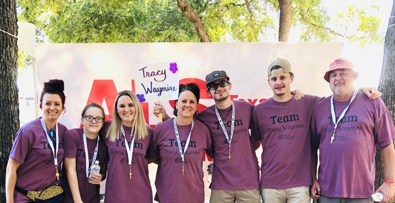 Team Tracy Waymire At The Als Walk  T-Shirt Photo