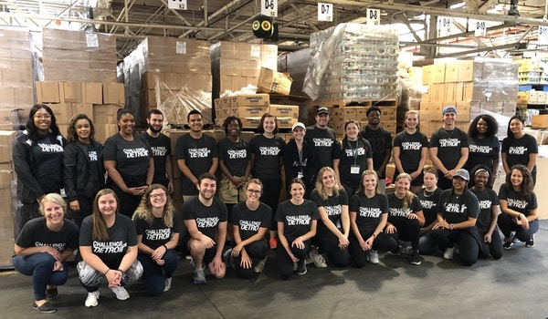 Challenge Detroit Volunteering At Focus Hope T-Shirt Photo