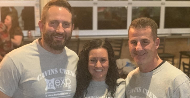 Cavins Crew Real Estate Cornhole Team T-Shirt Photo