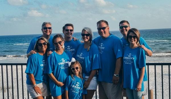 Chrony Family Beach Trip T-Shirt Photo