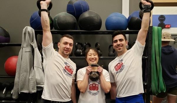 Three Kettlebells T-Shirt Photo