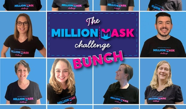 Just A Few Of The Organizers Behind The Million Mask Challenge   Dmv Proudly Sporting Our T Shirts! T-Shirt Photo