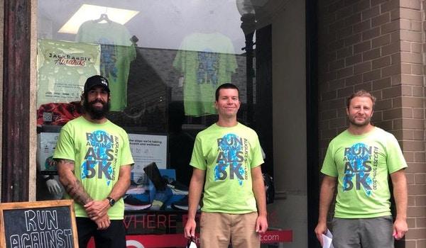 Run Against Als Packet Pick Up T-Shirt Photo