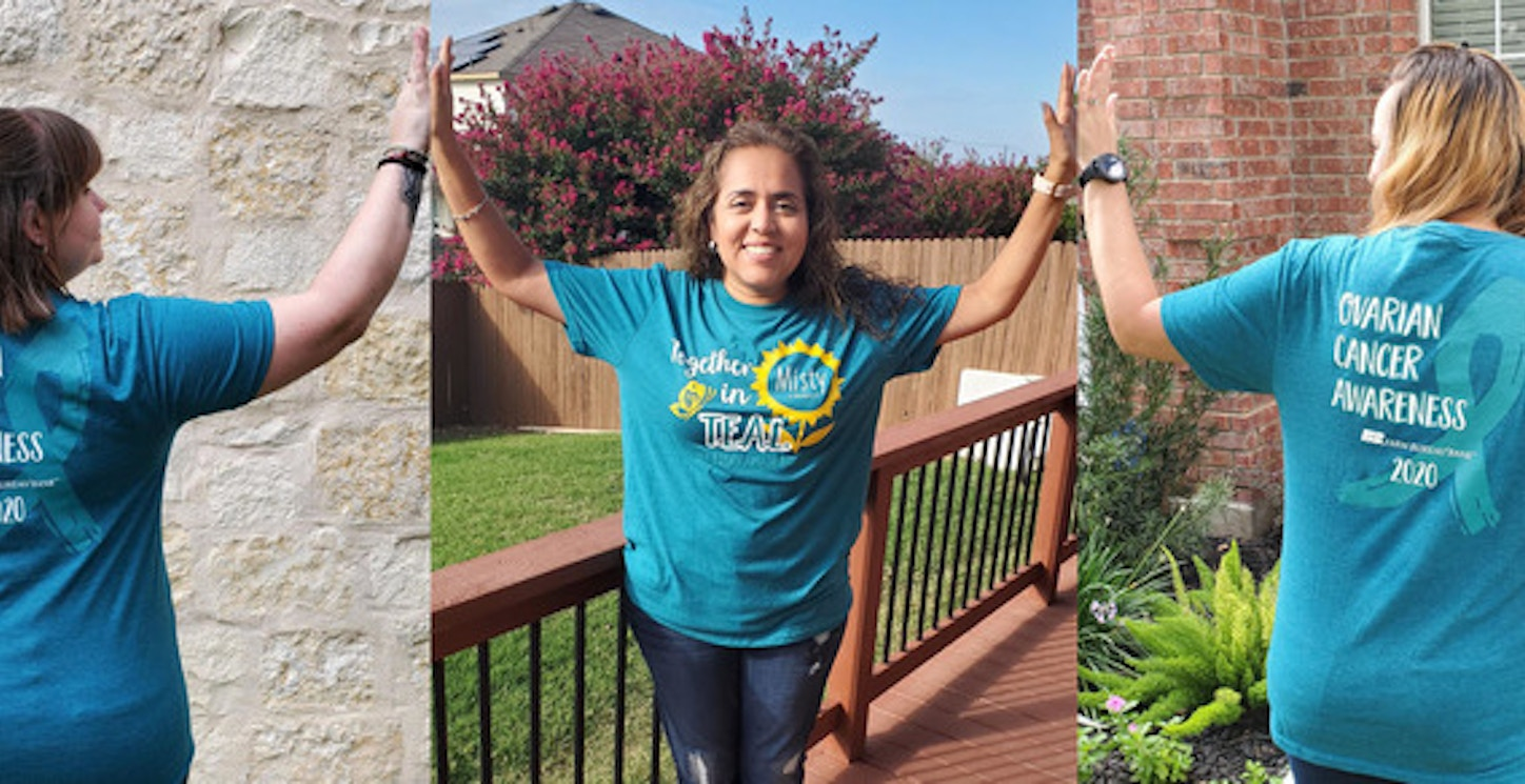 Fbb Team Members Supporting Nocc Together In Teal Virtual 5 K 2020 T-Shirt Photo