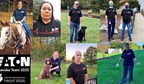 Eaton Roanoke Heart Walk Team 2020 T-Shirt Photo