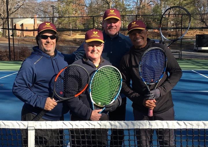 Tennis Player Maroon   Tie