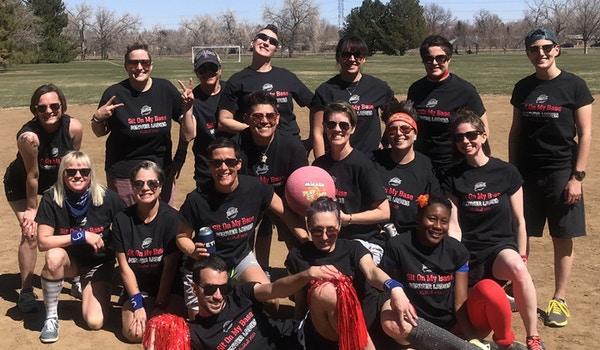 Denver, Co Ladies Kickball T-Shirt Photo