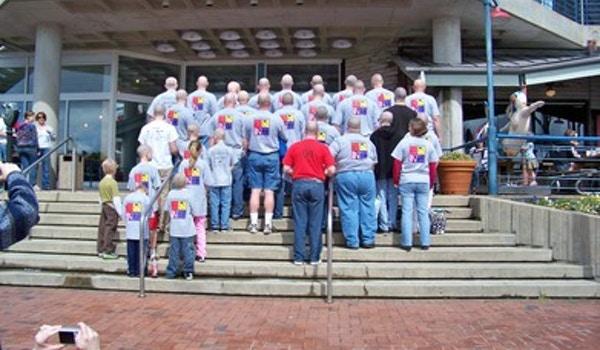 Shaving Away At Childhood Cancer! T-Shirt Photo