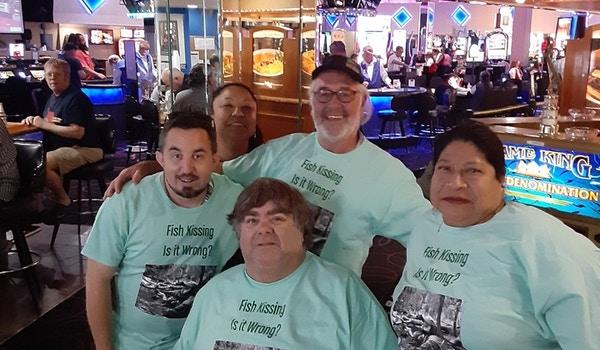Fish Kissing Memorial T-Shirt Photo