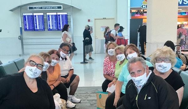 Masking Up At Airport T-Shirt Photo