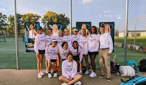 Girls Tennis Team T-Shirt Photo