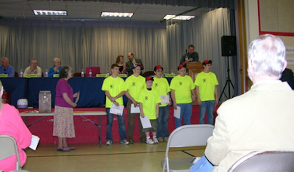Junior Firefighers Honored At Town Meeting T-Shirt Photo